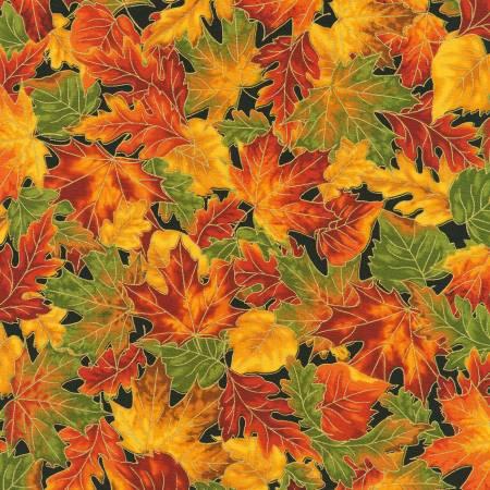 Leaves Autumn w/Metallic
