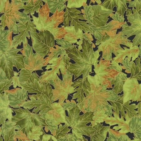 Leaves Green Autumn w/Metallic