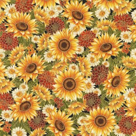 Robert Kaufman - Flowers Autumn w/Metallic
