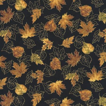 Leaves Vintage Autumn w/Metallic