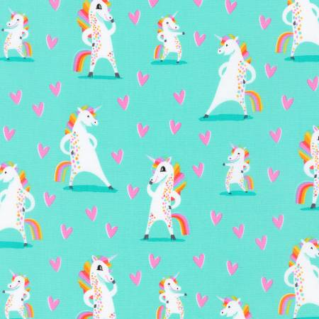 Mint Unicorns & Hearts