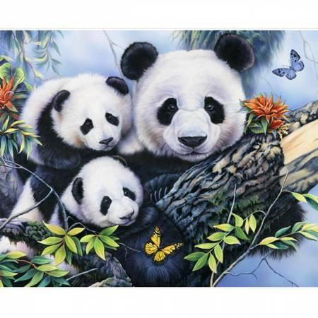 Panda Family Picture Panel Digitally Printed