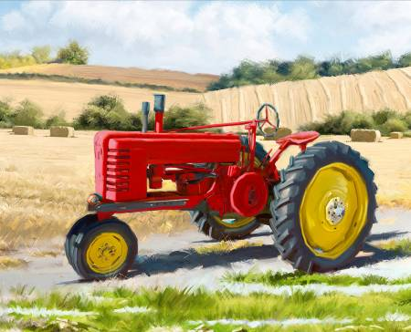 1822 Red Tractor Panel 36in by 45in