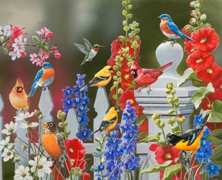 Spring and Summer Birds - Digitally Printed Panel - Four Seasons David Textiles - AL44560C1