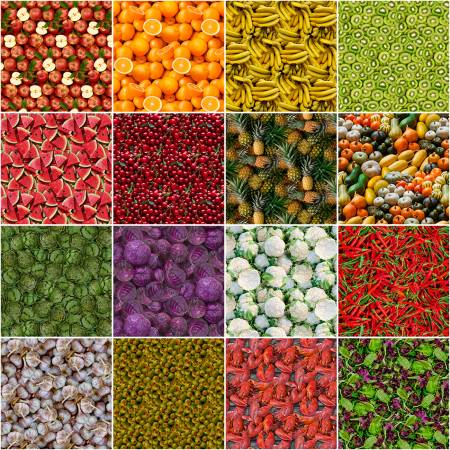 Fat Quarter A La Carte, 16pcs/bundle