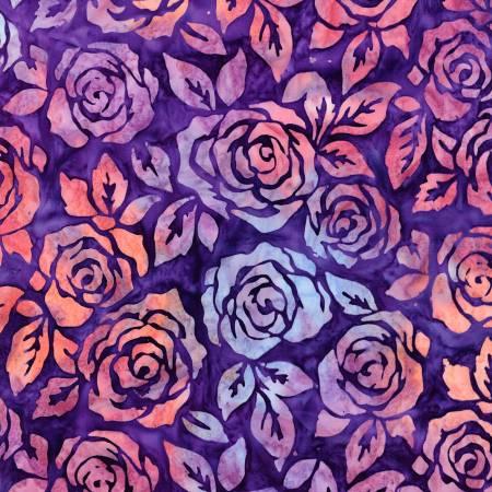Rosette Artisan Batiks - Purple - by Lunn Studios for Robert Kaufman Fabrics