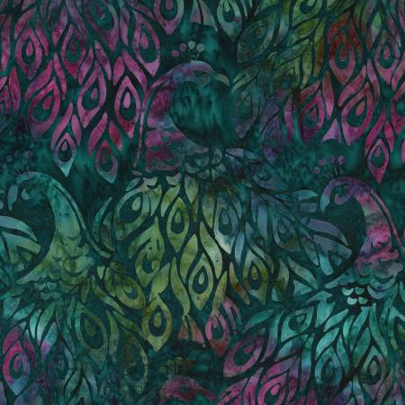 Emerald Fancy Feathers Batik KAU032720