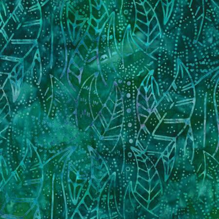 Desertscapes Batik, Laguna Leaves, by Lunn Studios for Robert Kaufman