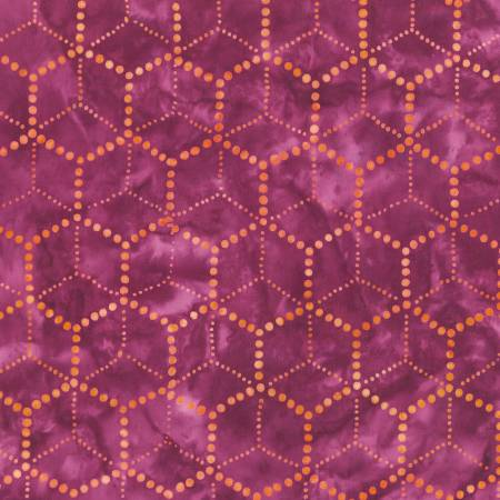 Waiting for the Sun Batiks - Geometric, Berry - by Lunn Studios for Robert Kaufman Fabrics