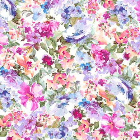Extra Wide Backing Amelia Floral Multi 108in