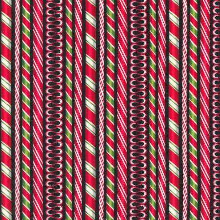 Black Christmas Candy Stripe