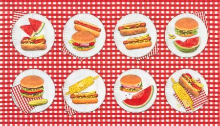 Robert Kaufman Americana Picnic Hamburgers