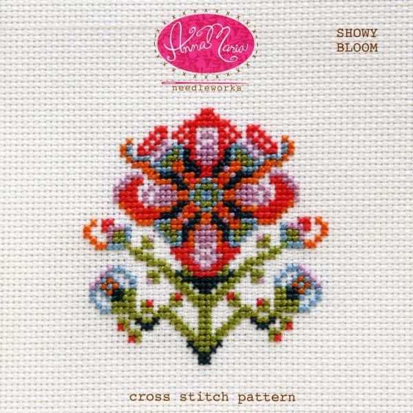 Snowy Bloom Cross Stitch Pattern