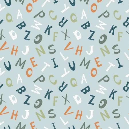 Animal Alphabet Blue Letters