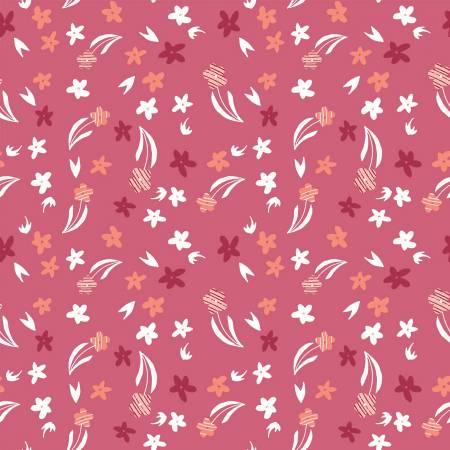 Animal Alphabet Pink Flowers