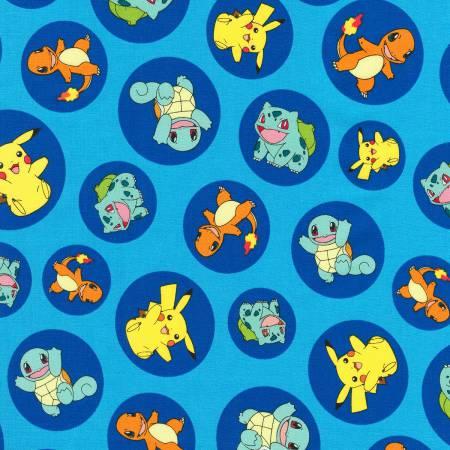 Blue Pokemon in Circles