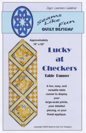 Lucky at Checkers Table Runner