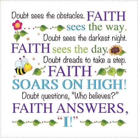 Faith Answers Art Fabric Panel 6 square