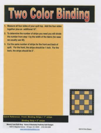 Two Color Binding Laminated Card