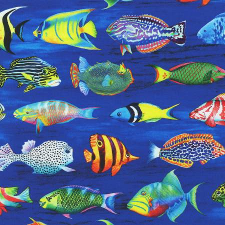 Coral Canyon Pacific  Fish Digitally Printed by Carolyn Steele