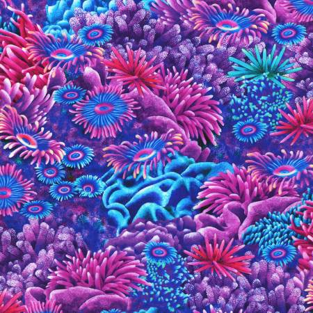 Coral Canyon Caribbean Coral Digitally Printed by Carolyn Steele