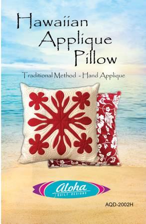 Plumeria Hawaiian Applique Pillow