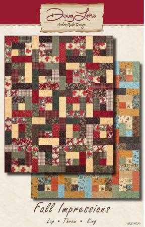 Antler Quilt Design Fall Impressions AQD0255 Lap 48 x 64 - Throw 64 x 80 - King 96 x 108