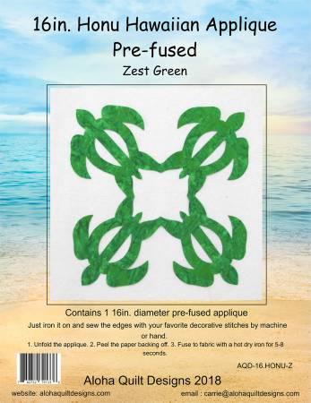 Batik Honu Hawaiian Fusible Applique 16in