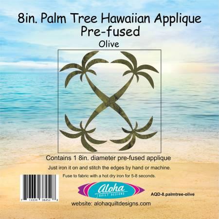 Palm Tree Hawaiian Applique - Green - 8
