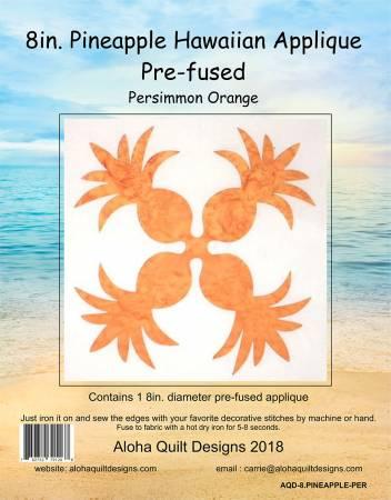 Batik Pineapple Hawiian Fusible Applique 8in