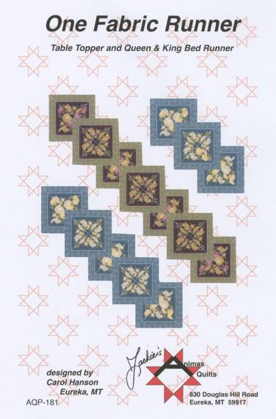 One Fabric Runner-Animas Quilts - AQP-181