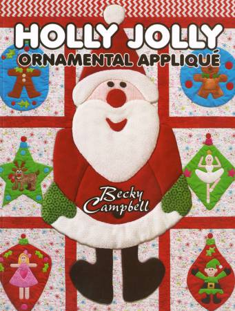 Holly Jolly Ornamental Applique - Softcover