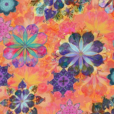 Venice - Coral Multi Floral - AQSD19719-143