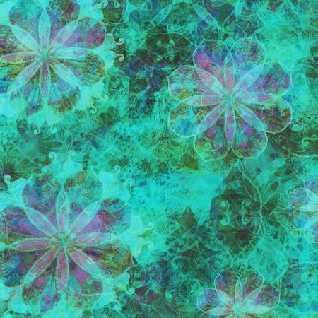 Venice - Turquoise Flowers - AQSD19721-81