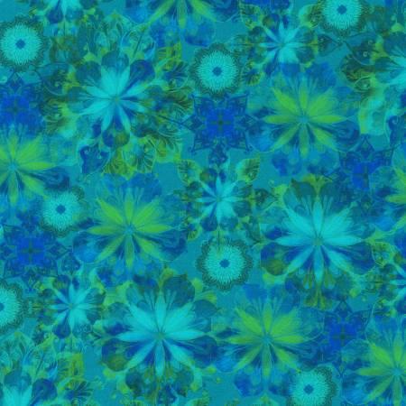 Venice - Teal Flowers - AQSD19722-213