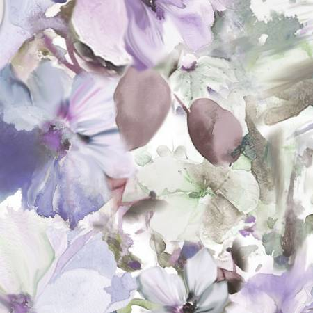 Blue/Violet Arabesque Floral