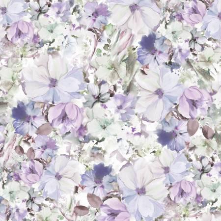 Arabesque Blue Violet Floral 108in