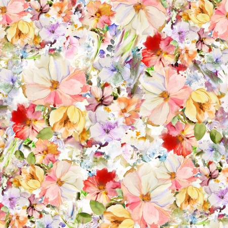 Arabesque Multi Watercolor Floral 108in