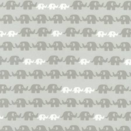 Kaufman Cozy Cotton Flannel Grey Elephant