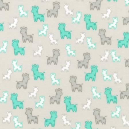 Kaufman Cozy Cotton Flannel Silver Giraffe