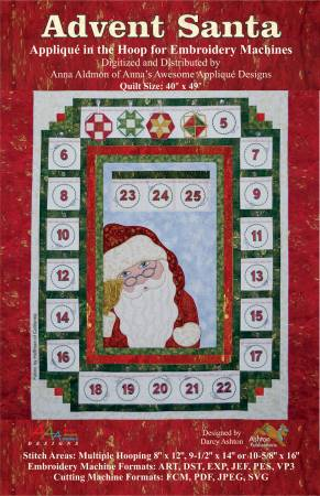 Advent Santa/applique in the hoop