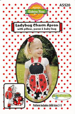 Ladybug Charm Apron with Pillow, Purse and Baby Bug by Apron Lady Designs AS520