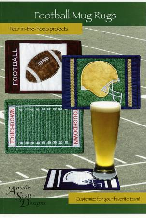 Football Mug Rugs Pattern