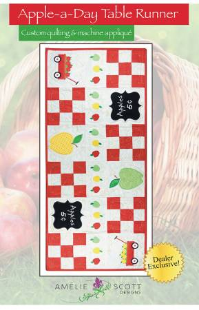 Apple A Day Table Runner - Amelie Scott Designs by Christine Conner  ASD241