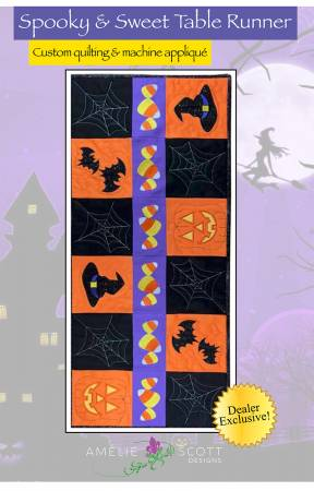 Spooky & Sweet Table Runner - Amelie Scott Designs by Christine Conner  ASD242
