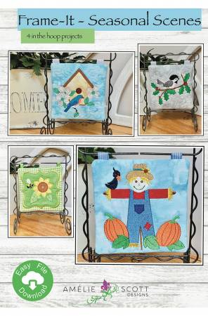 Frame-it! - Seasonal Scenes Machine Embroidery Designs from Amelie Scott Designs by Christine Conner