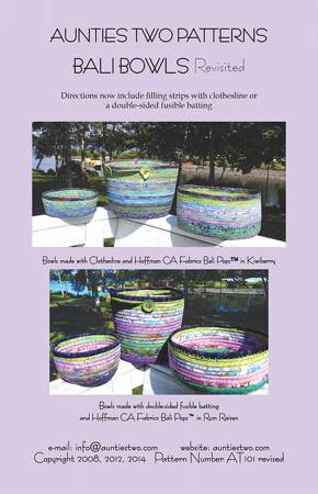 Bali Bowls - Fabric Covered Clothesline Crafts
