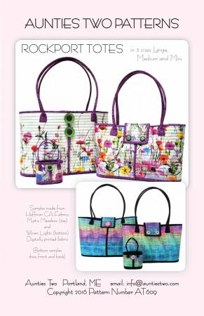 Aunties Two Patterns: Rockport Tote Pattern - 3 Sizes