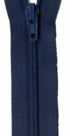 22in Zipper 6 per pack Navy Blue