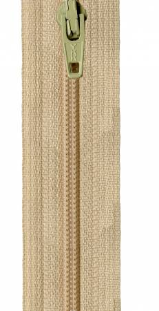 Zipper - Straw 14in, by YKK for Atkinson Designs